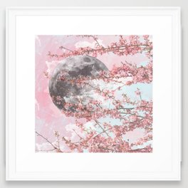 Spring Moon Framed Art Print