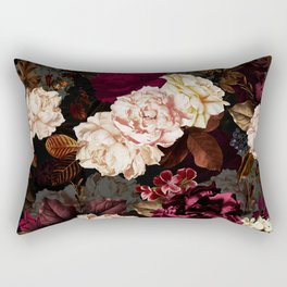 Vintage & Shabby Chic - Midnight Rose and Peony Garden Rectangular Pillow