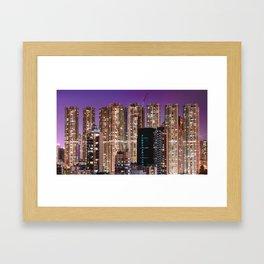 Hong Kong Purple High Rise Framed Art Print