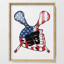 A Sports Tee For Sporty You With An Illustration Of A Helmet American Flag T-shirt Design America Serving Tray