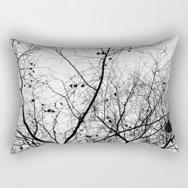 Nature in black and white Rectangular Pillow