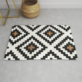 Urban Tribal Pattern No.16 - Aztec - Concrete and Wood Rug