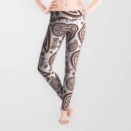 Paisley (Brown & White Pattern) Leggings