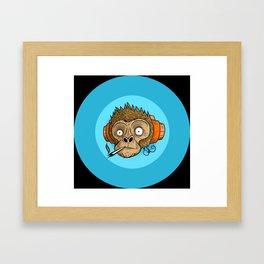 Dj Monkey Framed Art Print