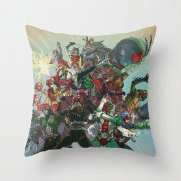 Showa Rider / Kamen Rider All-Star Throw Pillow
