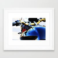 motorcycle Framed Art Prints featuring Motorcycle by Carlo Toffolo