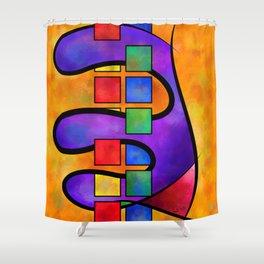 Desmelotipia - colourful cubes Shower Curtain
