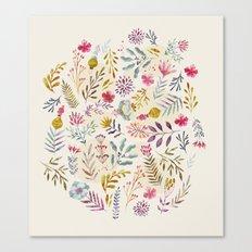 Light floral Canvas Print