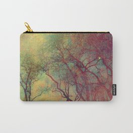 Tree Silhouette, Autumn Sunset Carry-All Pouch