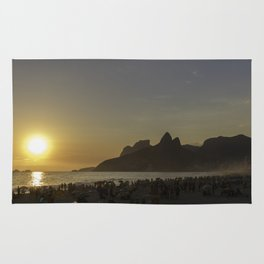 Sunset at Ipanema Beach Rug
