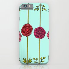 Garden Flowers Illustration - in Reds & Pinks Slim Case iPhone 6s