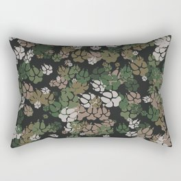 Canine Camo WOODLAND Rectangular Pillow