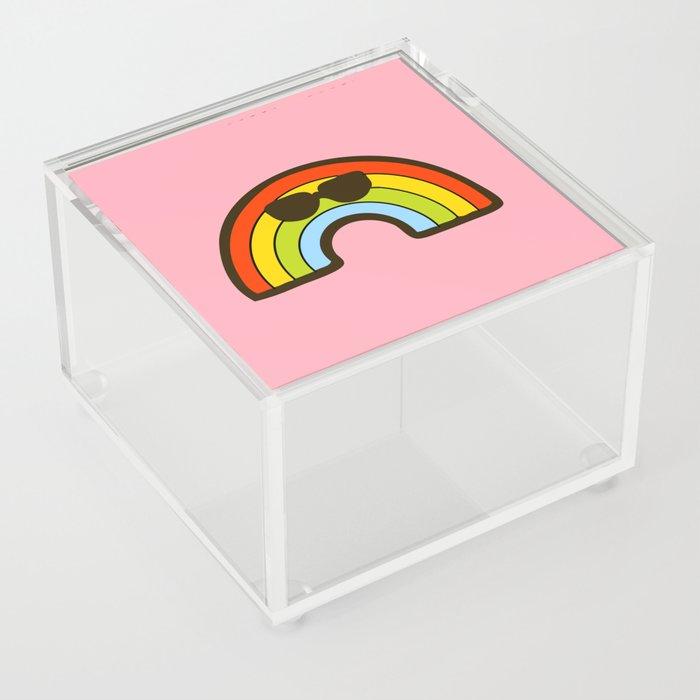 Rainbow Pride Pattern Acrylic Box