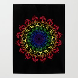 Stained Glass Mandala Poster