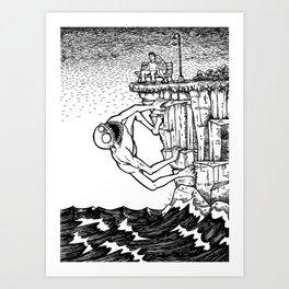 The First Date Art Print