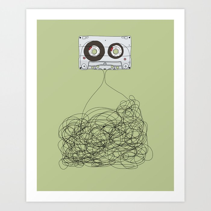 Analog Unravelled Art Print