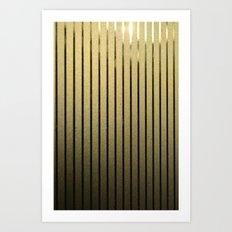 Goldenen Linien Art Print
