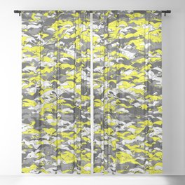 Whippet camouflage Sheer Curtain