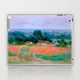 Claude Monet Impressionist Landscape Oil Painting Haystack at Giverny Laptop & iPad Skin