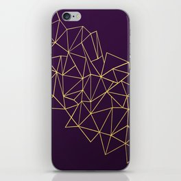 Ultra Purple Geo iPhone Skin
