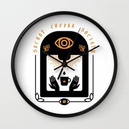 Secret Coffee Society Wall Clock
