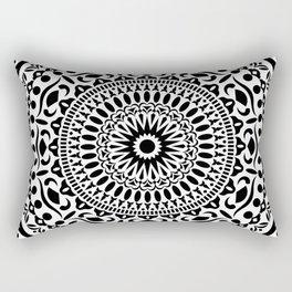 B&W Geometric Mandala 02 Rectangular Pillow