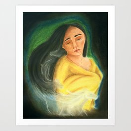 Carry your burdens with grace Art Print