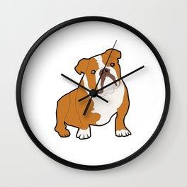 Bulldog Dog Wall Clock