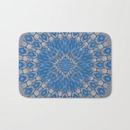 Turquoise mandala Bath Mat