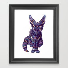 Fennec Fox (Color Version) Framed Art Print