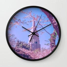 Shinjuku Cherry Blossoms  Wall Clock
