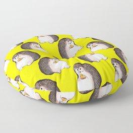 Hedgehog eating pizza Floor Pillow