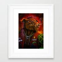 bebop Framed Art Prints featuring BeBop by Andre Beja