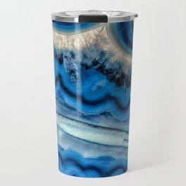 Blue wave Agate Travel Mug