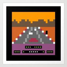 Minimal NES: Rad Racer Art Print