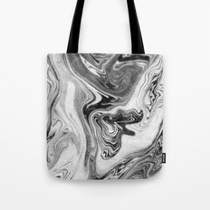 Mizuki - spilled ink marbling paper marble swirl abstract painting original art india ink minimal Tote Bag