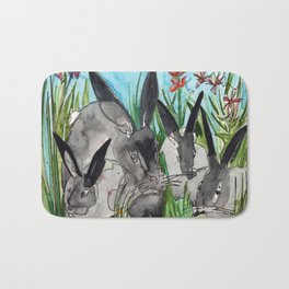 Bunny Mommy Bath Mat