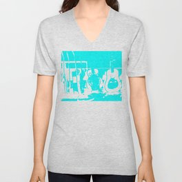 Sun Studio Guitars, Blue Unisex V-Neck