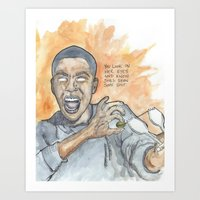 oitnb Art Prints featuring Poussey OITNB by Ashley Rowe