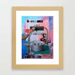 Art Before Dishes Framed Art Print