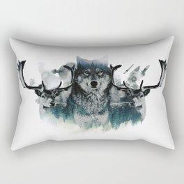 Faded Wildlife Rectangular Pillow
