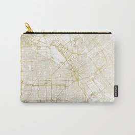 San Jose Map Gold Carry-All Pouch