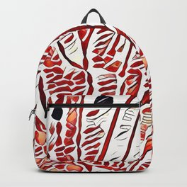 Butterfly Wings White Backpack