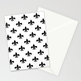 Black royal lilies on a white background Stationery Cards
