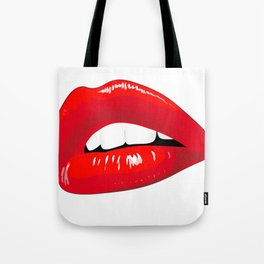 Sexy Red Lips Tote Bag