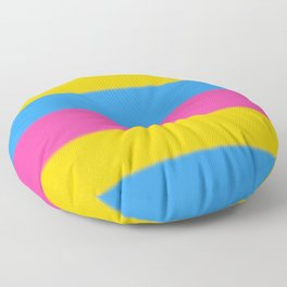 Pansexual Pride Flag v2 Floor Pillow