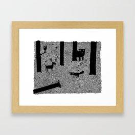 The Locals/ Hoi polloi Framed Art Print