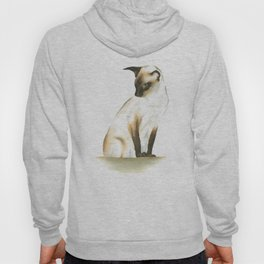 seal point siamese cat 1 Hoody