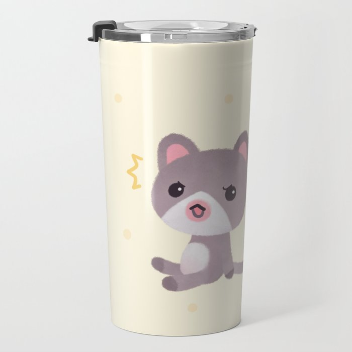 Cat and catfish Travel Mug