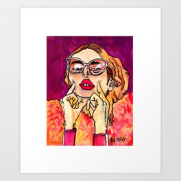 I Was A Rock Star Once Art Print